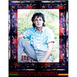 Paul McCartney Original Poster for the 1989/90 World Tour
