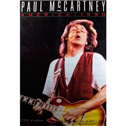 "Paul McCartney ""Flower In The Dirt"" Original 1990 Promotional Poster"