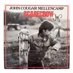 "John Mellencamp Signed ""Scarecrow"" LP Record"