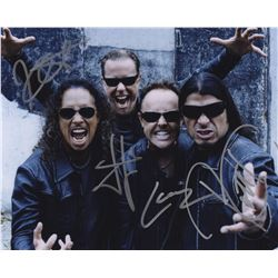 Metallica Signed 8x10 Color Photo