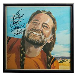 "Willie Nelson Autographed ""Greatest Hits"" Album Framed"