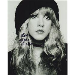 Stevie Nicks Signed 8x10 Black & White Portrait