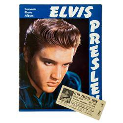 Elvis Presley Original 1956 Unused Concert Ticket & Souvenir Program