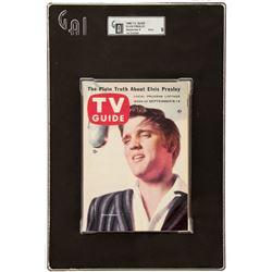 Elvis Presley Vintage 1956 TV Guide, Graded 9 Mint