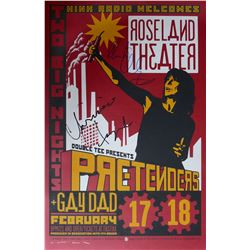 The Pretenders Limited Silk-screened Poster by Mike King signed by Chrissie Hynde & Martin Chambers