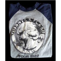 Quarterflash Tour 1982 Baseball Athletic Shirt & KLOS Sticker