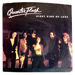 "Quarterflash ""Right Kind of Love"" B/W ""You're Holding Me Back"" 45 RPM Record"