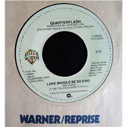 "Rare Quarterflash ""Night Shift"" B/W ""Love Should Be So Kind"" 45 RPM Record from Night Shift"
