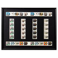 Framed Sheet of UK Royal Mail Rock 'n' Roll Stamps
