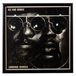 "Sly and Robbie Autographed ""Language Barrier"" Album Framed"