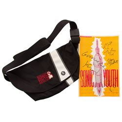 Sonic Youth Signed Concert Poster and Messenger Bag