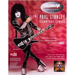 Paul Stanley (KISS) Washburn Promotional Poster
