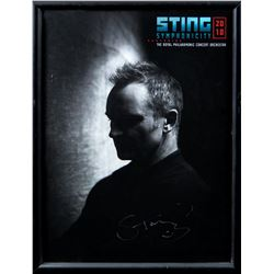 Sting Autographed Symphonicity 2010 Program Framed