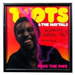 "Toots Autographed ""Pass The Pipe"" Album Framed"