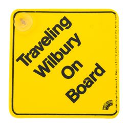 Traveling Wilbury On Board Caution Sign