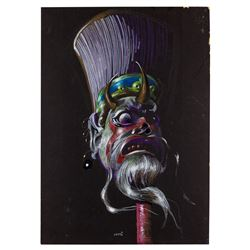 Concept Mask Painting by Ron Croci for Yes Giorgo Starring Luciano Pavarotti