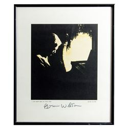 "Brian Wilson ""I Just Wasn't Made for These Times"" Signed Lithograph Framed"
