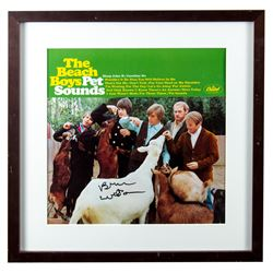 "Brian Wilson The Beach Boys Signed ""Pet Sounds"" Album Framed"