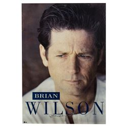 Brian Wilson Signed 1988 Record Promo Poster
