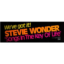 "Stevie Wonder ""Songs In The Key Of Life"" Original 1976 Promotional Poster"