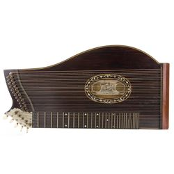Vintage 1873 American Fran Schwarzer Concert Zither with Case