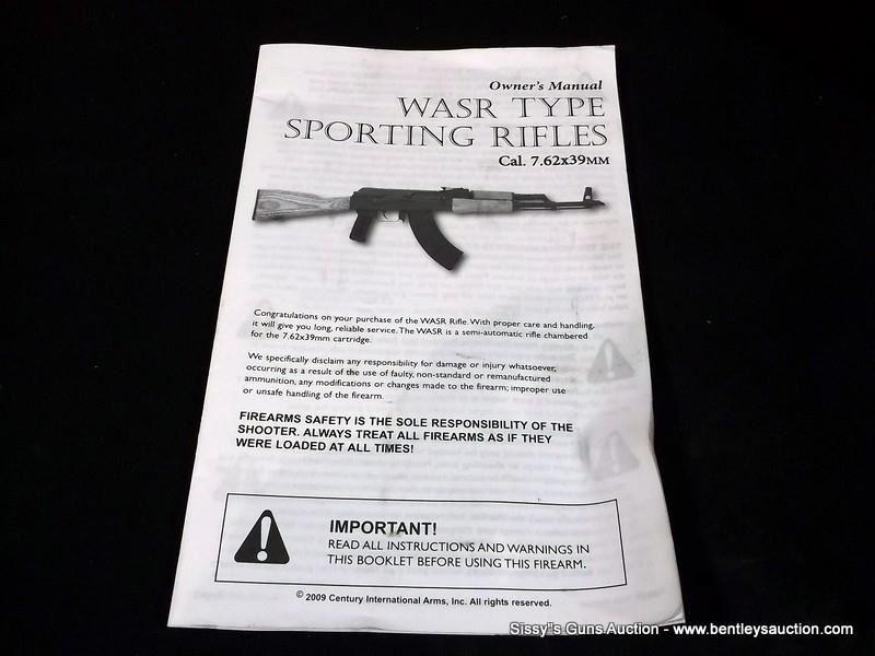ROMARM/CUGIR WASR-10 AK-47 STYLE SEMI AUTO RIFLE 7 62 X 39MM, 1-CLIP S/N  A1-26042-14 RO