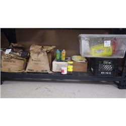 NEAR FULL BAG OF ALL PURPOSE FLOUR, APPROX 1/2 BAG OF FOOD GRADE SALT, APPROX 1/2 BAG OF BARRY CALLE