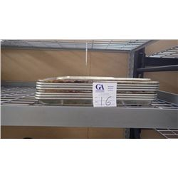 APPROX 9 RECTANGLE BAKING SHEETS