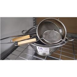 6 PCS OF ASSORTED STRAINERS
