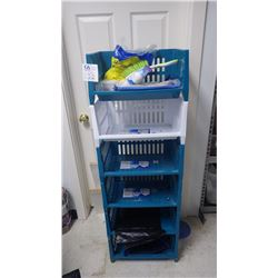 STACKABLE RUBBER MADE STORAGE BINS 6 PCS AND CONTENTS