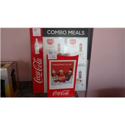 TWO COCA COLA SIGNS WITH MENU INSERT FLAPS