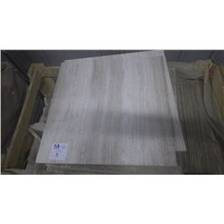 """White Wood Ridge 24"""" x 24"""" Marble Tile - 1 crate, 140 pieces approx 560sq ft retail value of 11,053."""