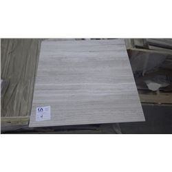 """White Wood Ridge 24"""" x 24"""" Marble Tile - 1 crate, 100 pieces approx 400sq ft retail value of 7895.00"""