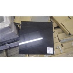"""Absolute Black 18"""" x 18"""" Granite Tile- 1 crate, 156 pieces approx 351sq ft retail value of 5452.00"""