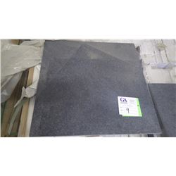 """Black Galaxy Honed 18"""" x 18"""" Granite Tile- 1 crate, 168 pieces approx 378 sq ft retail value of 8223"""