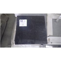 """Black Galaxy Polished 12"""" x 12"""" Granite Tile- 1 crate, approx. 450 pieces approx 450sq ft retail val"""