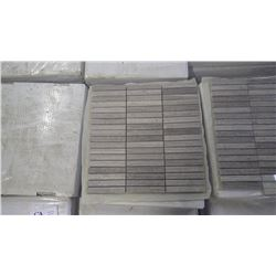 """Grey Woodridge Mosaic 4"""" x 5/8"""" - 20 boxes, 100 pieces approx 100sq ft retail value 1895.00"""
