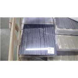 """Tree Black 18"""" x 18"""" Marble Tile- 8 boxes, 48 pieces approx 108 sq ft retail value of 1965.00"""