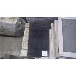 """Black Galaxy 12"""" x 24"""" Granite Tile- 1 crate, 114 pieces approx 228sq ft retail value of4782.00"""