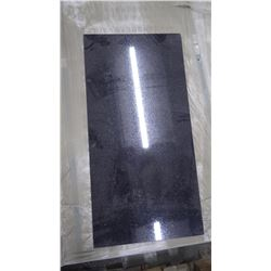 """Black Galaxy 12"""" x 24"""" Polished Graniite Tile- 1 crate, 180 pieces approx 360sq ft retail value 7551"""