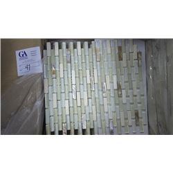 """Tan Mother of Pearl Mosaic- 1 box, 10 pieces 12"""" x 12"""" sheets approx 10sq ft retail value of 199.00"""