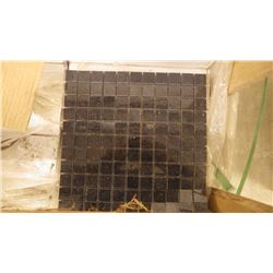 """Black Galaxy 1"""" x 1"""" Granite Mosaic- 9 boxes, 90 pieces 12"""" x 12"""" sheets approx 90sq ft retail value"""