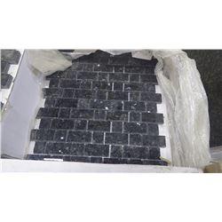 "Emerald Pearl 1"" x 1"", 1"" x 2"" Granite Mosaic- 11 boxes, 110 pieces, 110 sq.ft 12"" x 12"" sheets appr"