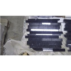 """Black Galaxy Mini Planking- 9 boxes, 90 pieces, 12"""" x 12"""" approx 90sq ft retail value of 2155.00"""