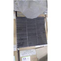 "Black Limestone Mosaic 4"" x 5/8""- 15 boxes, 150 pieces approx 150sq ft retail value 2842.00"