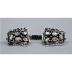 Navajo Sterling Pink Mother of Pearl Watch Band