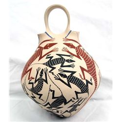 Mata Ortiz Polychrome Wedding Vase by Jose Villa