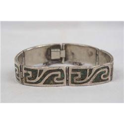 Vintage Mexican Taxco Sterling Link Bracelet