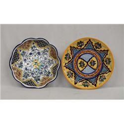 Pr of Talavera Pottery Plates