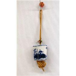 Antique Delft Lamp/Curtain Pull